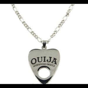 OUIJA pennant necklace. Silver